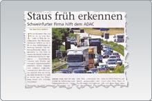 Staus früh erkennen - Schweinfurter Firma hilft dem ADAC